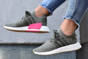"Buty Damskie ADIDAS NMD_R2 PRIMEKNIT W ""St Major"" khaki (BY9953)"