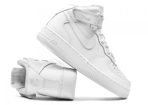 "Buty Damskie NIKE AIR FORCE 1 MID ""All White"" (314195 113)"