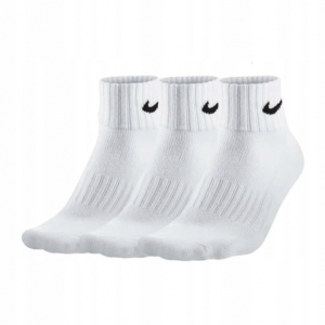 Skarpetki 3/4 Nike 3 Pack Value Quarter Socks białe (SX4926 101)