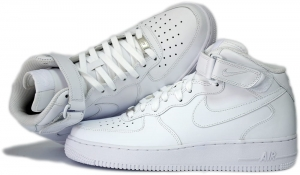 "BUTY NIKE AIR FORCE 1 MID 07 ""All White"" (315123-111)"