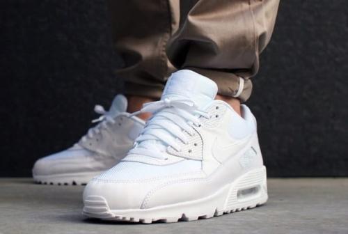 Buty Męskie Nike Air Max 90 Essential All White (537384 111)