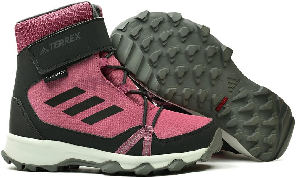 Buty zimowe juniorskie ADIDAS TERREX SNOW CF CP CW K różowe (AC7965)