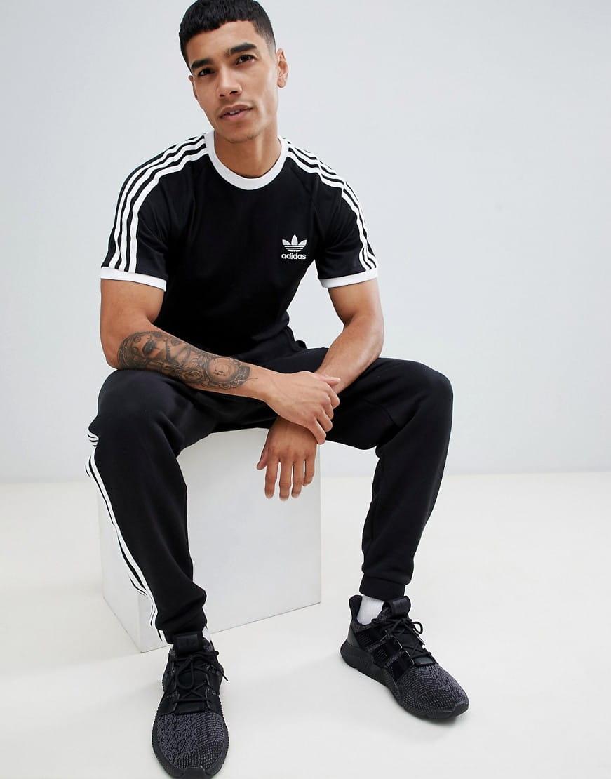 sprawdzić różnie Nowy Jork Koszulka męskie adidas Originals 3-Stripes Tee czarna (CW1202)