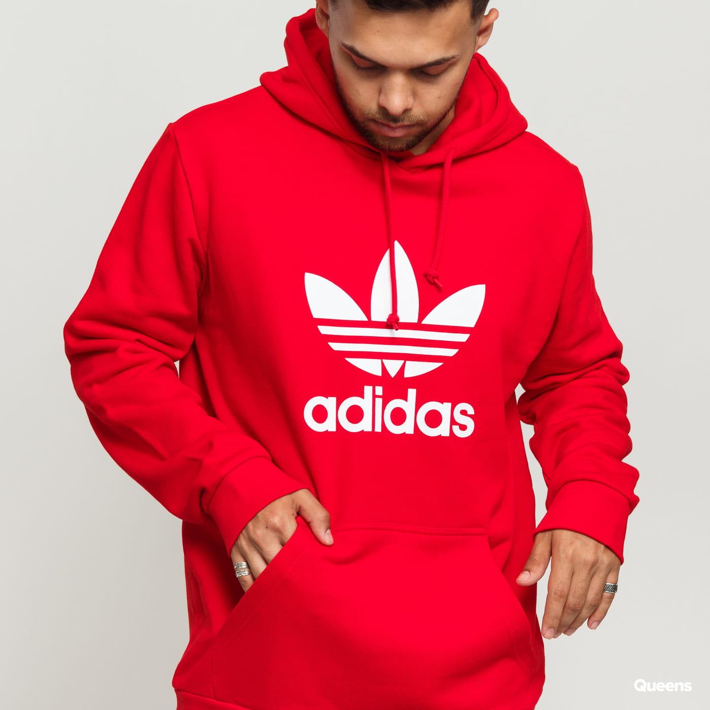Bluza męska ADIDAS ORIGINALS TREFOIL WARM UP czerwona (EJ9680)