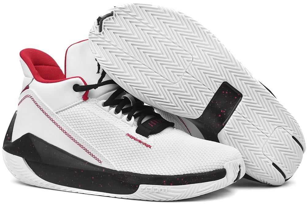 Buty NIKE Jordan 2X3 BQ8737 101 WhiteBlack Gym Red